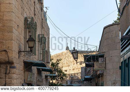 Bethlehem, Israel, December 09, 2020 : Milk Grotto Street In Bethlehem In The Palestinian Authority,