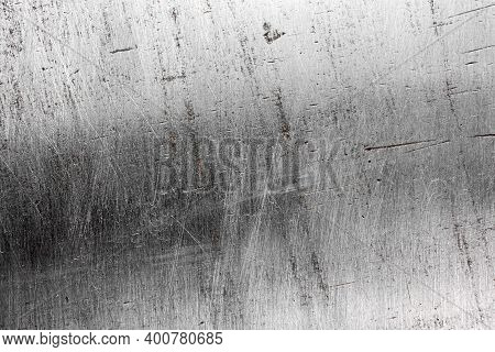 Scratched Metal Aluminum Grunge Texture Gray Background