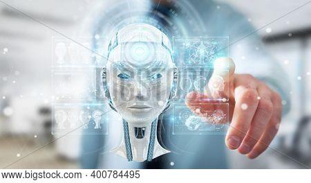 Robotics Technology And Futuristic Development, Artificial Intelligence Ai, And Machine Learning Con