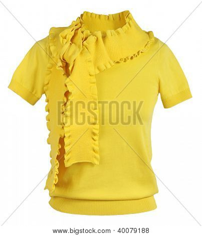 yellow blouse isolated on white