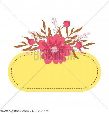 Spring Flower Frame. Flower Bloom, Garden Meadows Plants Background. Bridal Decoration, Spring Bloom