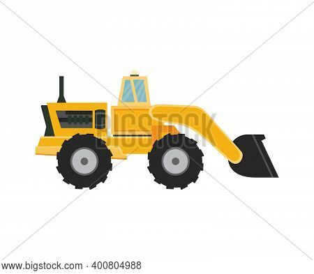 Snow Plow Removal Equipment For Cleaning Snowy Road In Winter Season Snowfall.