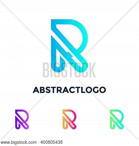 R Letter Vector Logo - Alphabet R Monogram Design Template Elements - R Sign Colorful Creative Intro