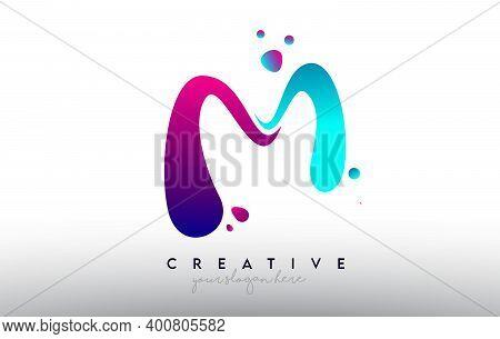 M, M, Blue, Purple, Colorful, Bubble, Gum, Bubble Gum, Fluid, Rainbow, Typography, Logo, Concept, Ve