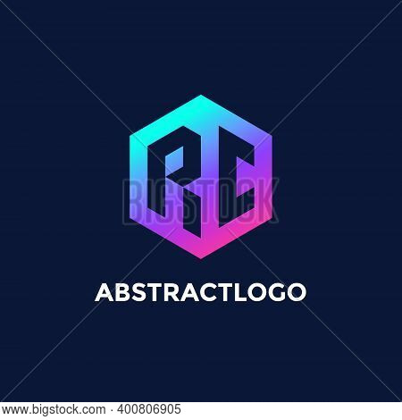 Colorful Rc Letter Logo Design Vector For Business Company.