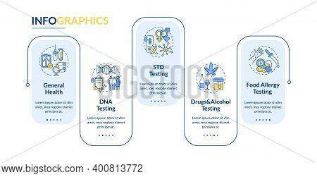Diagnostic Tests Vector Infographic Template. General Health, Dna Testing Presentation Design Elemen