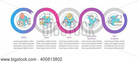 Lab Specimens Vector Infographic Template. Respiratory Sample, Skin Scraping Presentation Design Ele