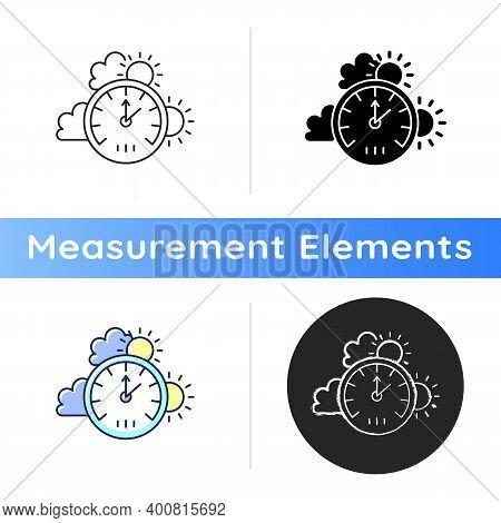 Barometer Icon. Measuring Air Pressure In Certain Environment. Meteorological Instrument. Atmospheri