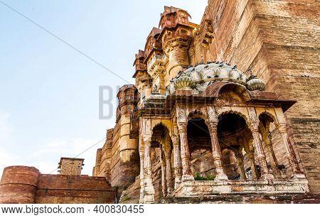 Jodhpur, India - April 06, 2019 - A View Of Mehrangarh Or Mehran Fort, Located In Jodhpur, Rajasthan