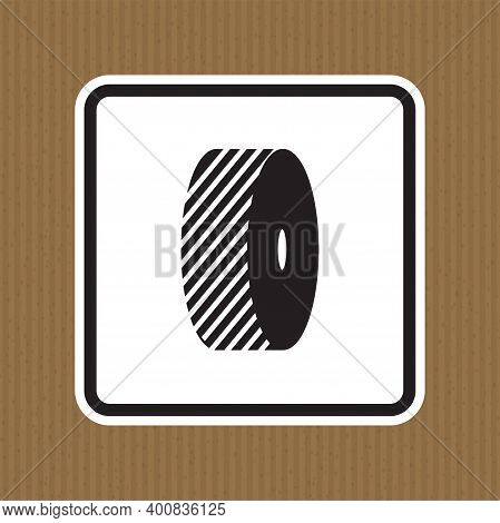 Do Not Change Grinding Wheels Symbol Sign Isolate On White Background,vector Illustration