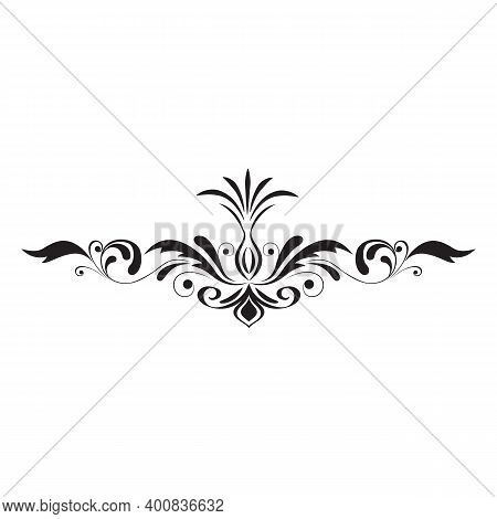 Flourishes Borders, Vegetable Swirl Vignettes Decorative Elements, Ornaments. Elegant Graphics Eleme