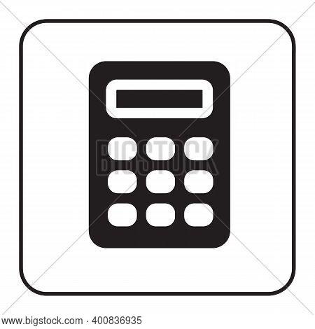 Calculator Icon Isolated Black On White Background, Calculator Icon Flat Modern, Calculator Icon,
