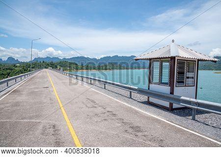 Beautiful Road On The Ratchaprapa Choew Lan Dam In Surat Thani, Thailand