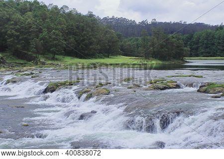Scenic Pykara Waterfalls Near Ooty Hill Station, A Popular Tourist Destination Of Tamilnadu, South I