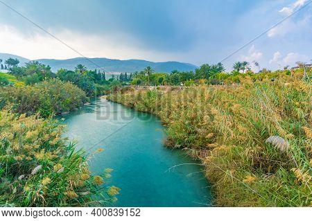 Landscape Of The Amal Stream In Gan Hashlosha National Park (sakhne), In The Bet Shean Valley, North