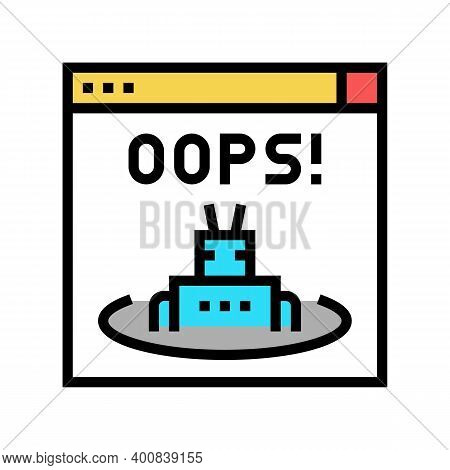 Oops Web Error Color Icon Vector. Oops Web Error Sign. Isolated Symbol Illustration