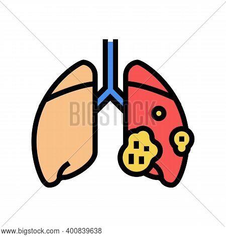 Acute Respiratory Distress Syndrome Color Icon Vector. Acute Respiratory Distress Syndrome Sign. Iso