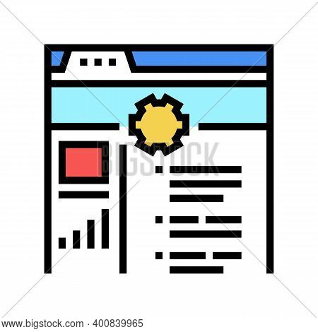 Internal Services Color Icon Vector. Internal Services Sign. Isolated Symbol Illustration