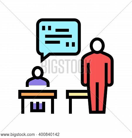 Pupil Answer Color Icon Vector. Pupil Answer Sign. Isolated Symbol Illustration
