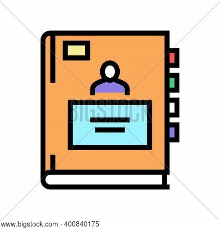 Pupil Notebook Color Icon Vector. Pupil Notebook Sign. Isolated Symbol Illustration