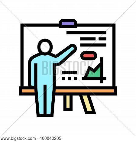 Pupil Presentation Color Icon Vector. Pupil Presentation Sign. Isolated Symbol Illustration