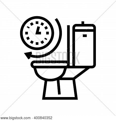 Frequent Urination Line Icon Vector. Frequent Urination Sign. Isolated Contour Symbol Black Illustra
