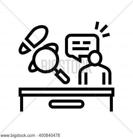 Crime News Line Icon Vector. Crime News Sign. Isolated Contour Symbol Black Illustration
