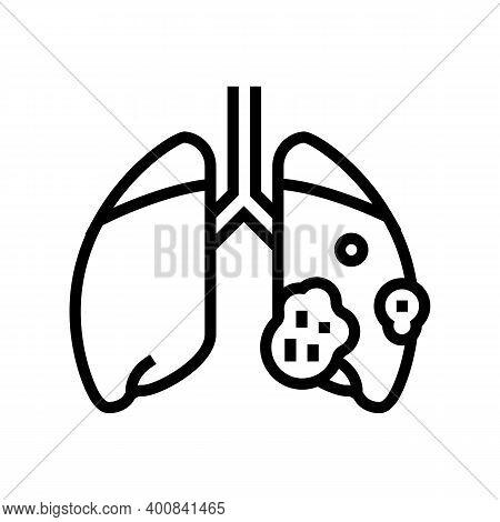 Acute Respiratory Distress Syndrome Line Icon Vector. Acute Respiratory Distress Syndrome Sign. Isol