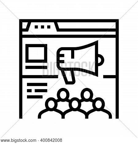 Internal Communities Line Icon Vector. Internal Communities Sign. Isolated Contour Symbol Black Illu