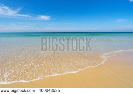 Beach In Summer Season At Karon Beach Phuket On December 7,2020 Concept Travel And Tour,empty Beach