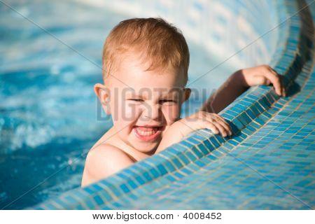 Baby Boy In Pool