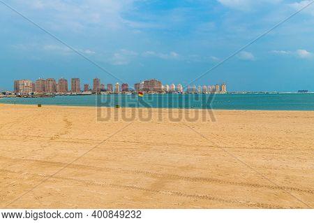 The General View Of The City Katara Beach In Doha, Qatar