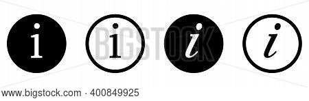 Info Icon. Information Vector Pictogram. Inform Sign. Round Help Symbol. Isolated Info Button. Help