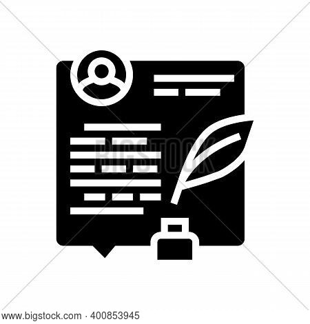 Writing News Article Glyph Icon Vector. Writing News Article Sign. Isolated Contour Symbol Black Ill