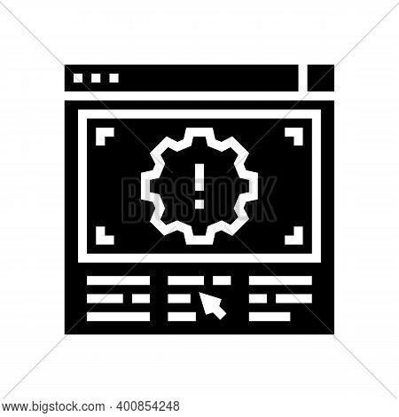Wronge Internet Settings Glyph Icon Vector. Wronge Internet Settings Sign. Isolated Contour Symbol B