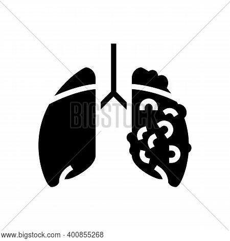 Ards Respiratory Disease Glyph Icon Vector. Ards Respiratory Disease Sign. Isolated Contour Symbol B