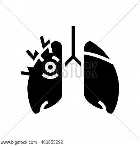 Asthma Of Children Glyph Icon Vector. Asthma Of Children Sign. Isolated Contour Symbol Black Illustr