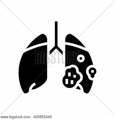 Acute Respiratory Distress Syndrome Glyph Icon Vector. Acute Respiratory Distress Syndrome Sign. Iso