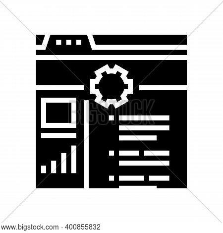 Internal Services Glyph Icon Vector. Internal Services Sign. Isolated Contour Symbol Black Illustrat
