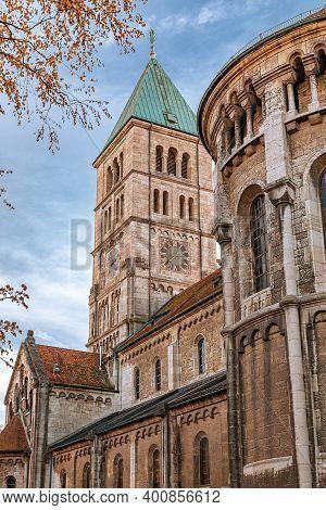 Germany, The Holy Spirit Church, The Roman Catholic Parish Church In Downtown Schweinfurt. Bell Towe