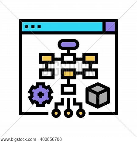 Process System Color Icon Vector. Process System Sign. Isolated Symbol Illustration