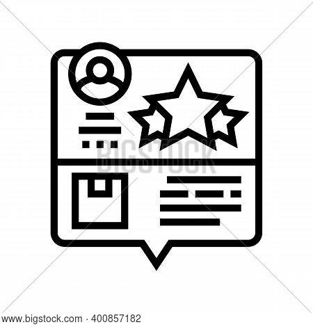 Testimonial Feedback Line Icon Vector. Testimonial Feedback Sign. Isolated Contour Symbol Black Illu