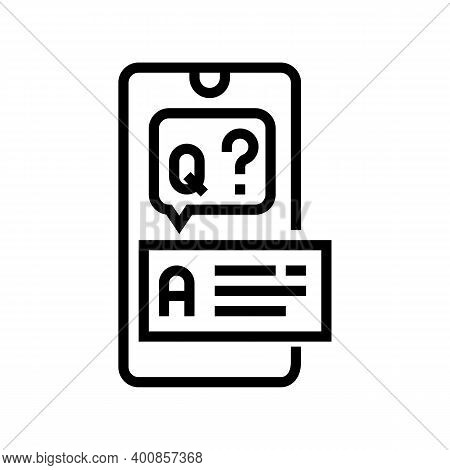 Question And Answer Line Icon Vector. Question And Answer Sign. Isolated Contour Symbol Black Illust