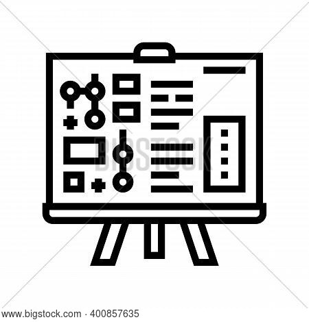 Technical Report Line Icon Vector. Technical Report Sign. Isolated Contour Symbol Black Illustration