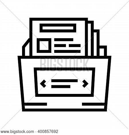 Complex Report Line Icon Vector. Complex Report Sign. Isolated Contour Symbol Black Illustration
