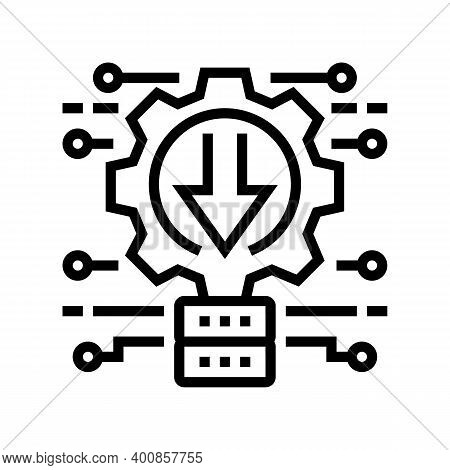 Integration System Line Icon Vector. Integration System Sign. Isolated Contour Symbol Black Illustra