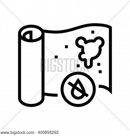 Non-waterproof Wallpaper Line Icon Vector. Non-waterproof Wallpaper Sign. Isolated Contour Symbol Bl