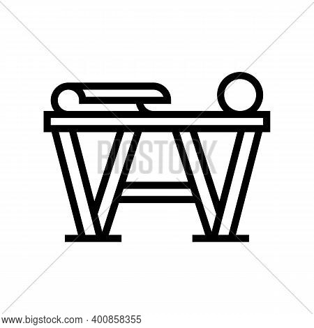 Preparation For Gluing Wallpaper Line Icon Vector. Preparation For Gluing Wallpaper Sign. Isolated C