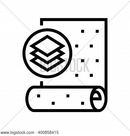 Non-woven Wallpaper Line Icon Vector. Non-woven Wallpaper Sign. Isolated Contour Symbol Black Illust