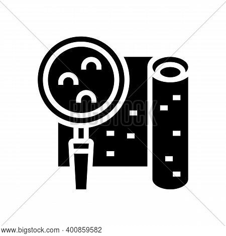 Embossed Wallpaper Glyph Icon Vector. Embossed Wallpaper Sign. Isolated Contour Symbol Black Illustr